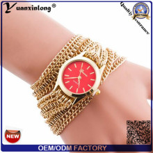 Yxl-419 moda vintage relógios de pulso longo, senhora relógio de pulso com tecer envolver elegância senhoras relógio de pulso de quartzo