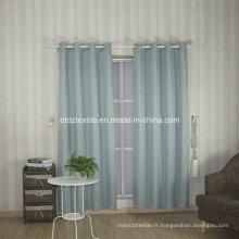 Broderie en polyester comme jacquard Rideau en tissu de fenêtre nouveau motif
