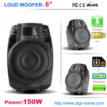 "15"" Rechargeable Wireless Speaker with USB FM Radio"