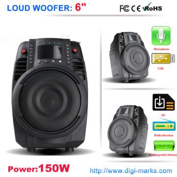 Orador da bagageira do trole do melhor vendedor com Bluetooth, rádio de USB FM