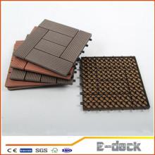300 * 300 * 22mm Plástico de madeira composto bloqueio telhas de plástico ao ar livre de plástico WPC