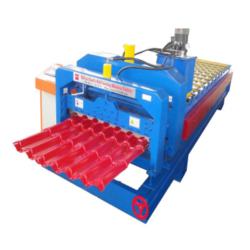 Unique Designed Metal Glazed Tile Roll Forming Machine