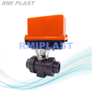PVDF BALL Valve Electric Actuated DIN PN10