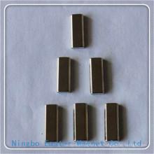 Barra de imán de neodimio de forma con alta calidad chapa de níquel