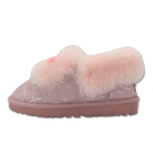 Good Quality for Ladies Black Sheepskin Slippers,Ladies Shearling Slippers,Sheepskin Slipper Boots Womens Manufacturers and Suppliers in China women's fuzzy warm home ankle slippers for winter export to Algeria Exporter