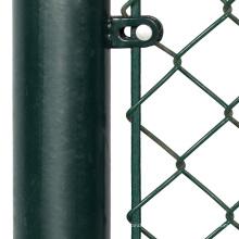 6 pies revestidos de eslabones de la cadena valla superior soporte de riel