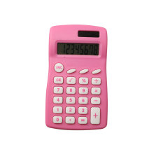 Dual Power Colorful Pocket Calculator for School Stationery