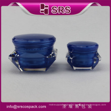 2016 SRS new product fashion design ,beautiful and colorful acrylic jar for UV gels