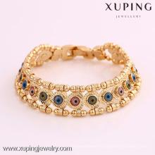 72025 Xuping vendedora caliente 18K plateó la joyería Pulseras elegantes del ojo de los EEUU
