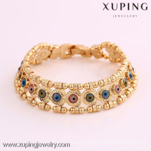 72025 Xuping горячий продавать 18k позолоченный ювелирных изделий США стильный глаз браслеты