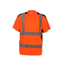 100% Baumwolle V-Ausschnitt Hoch sichtbares T-Shirt