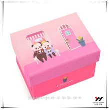 Caja de papel de encargo de encargo transparente de la caja de regalo de la joyería del PVC