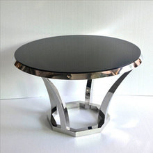 Stainless steel round short coffee table
