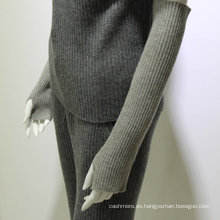 2017 guante sin dedos de la cachemira de la señora larga del knit del invierno caliente de alta calidad
