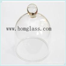 Hitzebeständigem Glas-Glas-Abdeckung für Kuchen