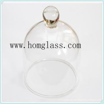 Tampa de jarra de vidro resistente ao calor para bolo