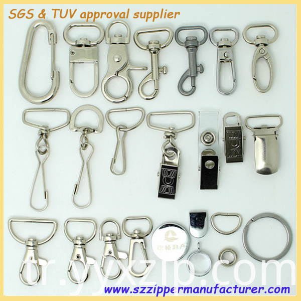 metal buckle/hook accessories for lanyards