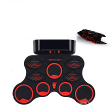 educational portable 9 Pad Roll Up kids drum set electric