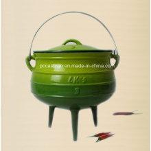 # 3 esmalte potes de ferro fundido potjie com três pernas / caldeirão