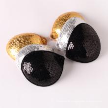 Paillette em ouro Sutiã sem alças