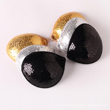 Gold paillette Strapless Bra