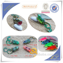 FGL002 HATSUGA Fishing Lure Jumping popper Frog Bass with VMC Hooks Soft Plastic Frog lure Emulational Frog Lure