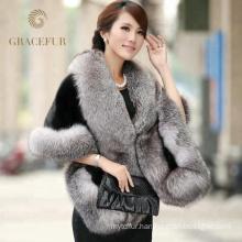 Solid reputation mink fur hood shawl