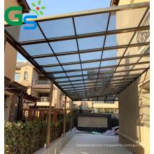 Guansu 100% Raw Material 4mm  Pc Solid Sheet Balcony Terrace Aluminum Canopy Car Bas Roof Sunshading