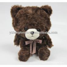 Lindo oso marrón en forma de mini grabadora de voz de juguete para niños