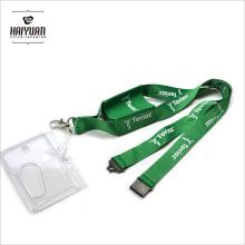Hochwertige Metall Office Polyester Handy Tasche Lanyard mit starren Kartenhalter