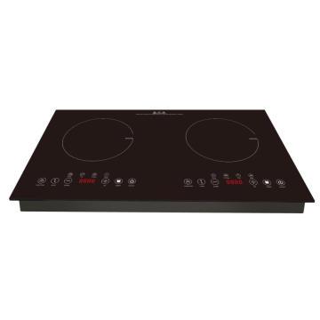 Nouvelle cuisinière à induction en acier inoxydable avec deux brûleurs