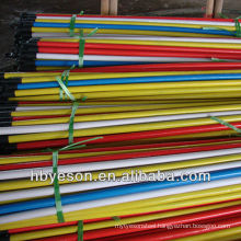 cheap price pvc cover wood broom handle 2.2*120cm