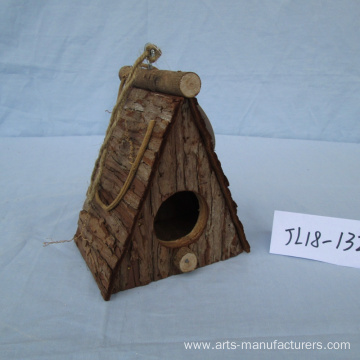 Special Design for for China Wooden Bird House,Weaving Bird Cage,Wooden Bird Cage Manufacturer Nature Wood Bark Bird House export to United States Manufacturers