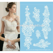 Etiqueta engomada blanca j017 del tatuaje del arte corporal del cordón de los regalos del banquete de boda de la promoción