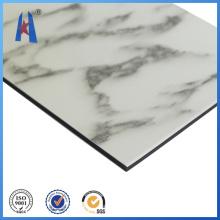 Blanco Gris ACP Aluminio Material del panel compuesto