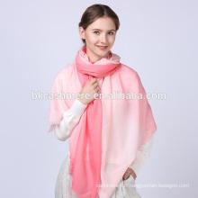 lady lastest design écharpe en laine multifonctions rose personnalisée