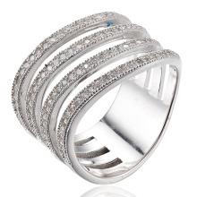 Кольцо стерлингового серебра кольца CZ кольца покрывая
