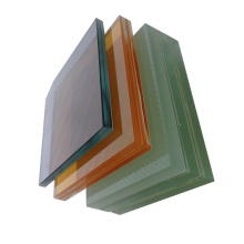 Safety Coloured PVB Laminated Glass for Real Estate stained glass sheets