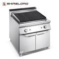 Kommerzielle zentrale heiße Edelstahl-Gas-Lava-Felsen-Grill-Maschine für Verkauf