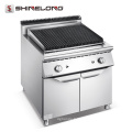 Machine chaude de gril de roche de lave de gaz d'acier inoxydable de centre commercial à vendre
