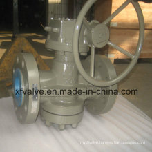 ANSI Cast Carbon Steel Flanged Connection End Plug Valve