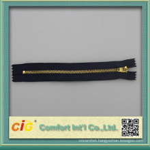 #4 brass zipper YG slider