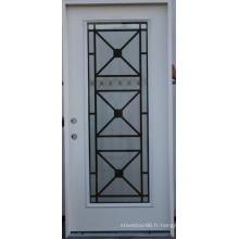 Porte d'entrée vitrée en fer forgé Fangda