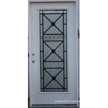 Full Lite Glass Inserted Restaurant Entry Steel Door