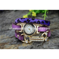 Bracelete deslumbrante das mulheres digitais do rhinestone do snakeskin para o relógio