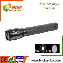 Factory Supply Metal 3 C Power Cell 5 mode light Multi-functional Strobe Zooming xml t6 10w Cree long Range Flashlight Torch