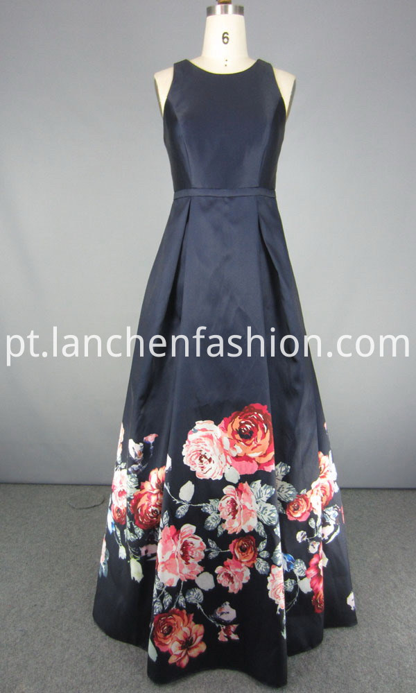 navy Short A Line Prom Dresses