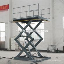 plataforma de tijera de plataforma pequeña eléctrica