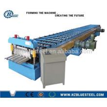 PLC Hidráulico Cisalha Automática Aço Suporte Deck Pavimento Decking Roll formando máquina com estampagem