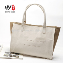 New products linen side canvas tote bag